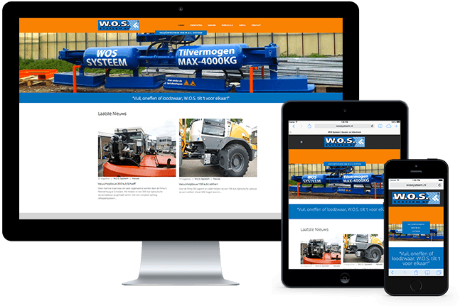 WOS Systems website on Desktop and mobile devices